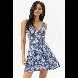 NWT Forever 21 Periwinkle Floral Tank Dress